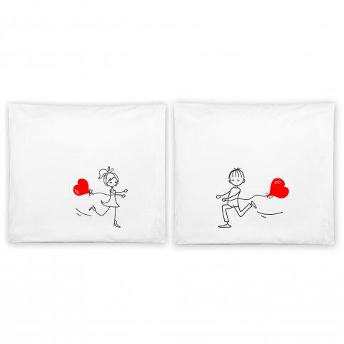 """Jastuci u paru sa romantičnim motivom """"Srce balon"""""""