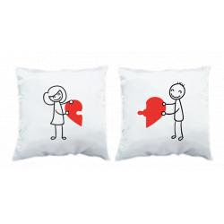 """Jastuci u paru """"Puzle srce"""""""